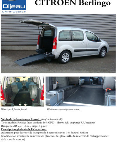 Citroën Berlingo adaptation Dijeau